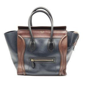 Authentic CELINE Luggage Micro Leather Hand Bag